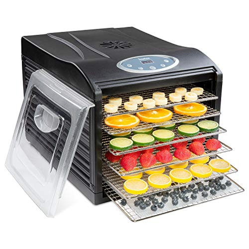 Review Of Ivation Stainless Steel Tray Electric Food Dehydrator Machine - 6 Trays - 480w - Digital T...