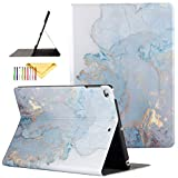iPad 9.7 inch 2017/2018 Case/iPad Air/Air 2 Cover, Uliking [Marble Map Series] PU