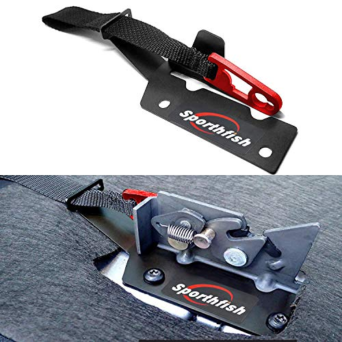 Sporthfish Rear Seat Release Kit Strap Compatible for Ford SuperCrew F-150 (2009-2018),SuperCab F-150 (2015-2018) F-150 Raptor (2017-2018) F-250/F-350 (2017-2018) (Red)