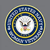 Sticker Proud Woman Female Veteran US Navy Decal Army Military for Car Truck Window Laptop Bumper US Flag 4 in