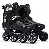 STBB Patins à roulettes Adultes Inline Skates Freestyle Slalom Roller Roller Boots Rocked Wheels Patines Skate pour Femmes Hommes 38 Blanc