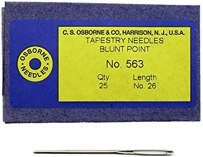 25 pk Osborne Blunt Tapestry Needle Size 18 Leather Tools 12978