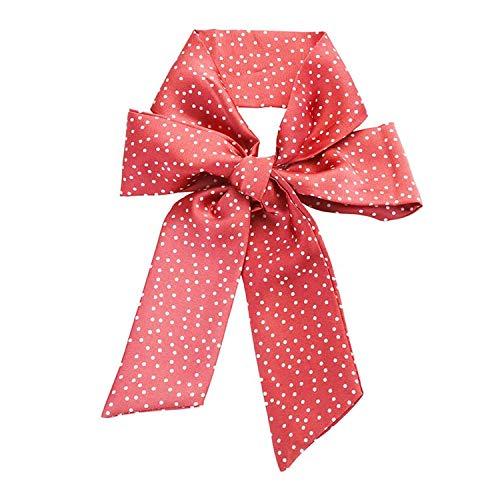 OULN1Y Bandeaux Floral Scrunchie Women Hair Ribbon Hair Scarf Elastic Bohemian Hairband Bow Hair Ropes Girls Hair Ties Accessories,Red dot