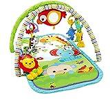 Fisher-Price CHP85 Palestrina della Foresta con 3 Livelli di Gioco, 5 + 1 giocattoli, Musica e Suoni, Morbido Tappetino Facilmente Lavabile, per Neonati da 0+ Mesi