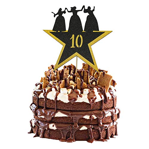 Hamilton Cake Topper 10, Happy 10th Birthday Hamilton Cake Topper for 10 Years Old Boy Girl American Musical Hamilton Birthday Party Decorations