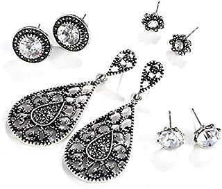 611294e5e Shining Diva Fashion 5 Latest Designs Stylish Combo Antique Oxidized  Earrings For Women and Girls