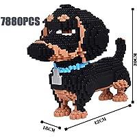 RSVT Animales Building Blocks, 4 Perros Diferentes, 3D Modelo De Construcción, Cachorro Juguetes para Los Niños, Regalo,D