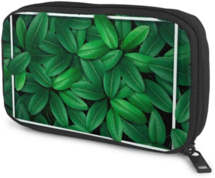 Electronics Accessories Max 82% OFF Organizer Arlington Mall Bag Green Leaf Water Tropical