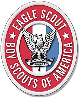 GHaynes Distributing Oval EAGLE SCOUT Logo Sticker Decal (scouting emblem insigina boy scouting) 3 x 5 inch