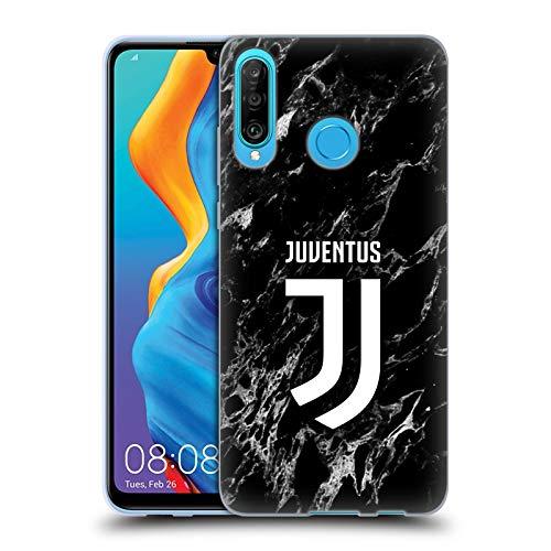 Head Case Designs Offizielle Juventus Football Club Schwarz 2017/18 Marmor Soft Gel Huelle kompatibel mit Huawei P30 Lite