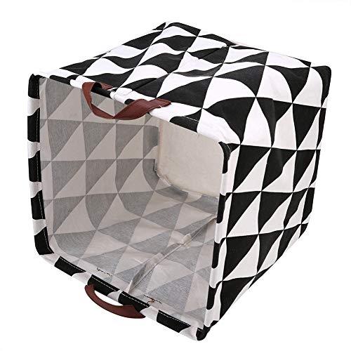 Changor Cesta de Almacenamiento Ligero, 32 x 32 x 32 cm Cesta de Cuerda de algodón con Lino de algodón