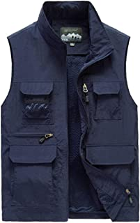 Men's multi-pocket quick-drying waterproof scratch-resistant multi-purpose outdoor loose large size casual fishing vest