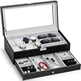 TomCare Upgraded Watch Box Watch Case Jewelry Organizer Holder...