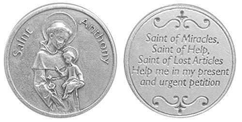 Jeton de poche de Saint Antoine de Padoue - Jeton de prière À conserver dans la poche, le portefeuille ou le sac à main