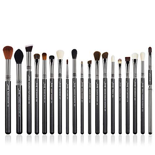 Jessup Make Up Pinsel Set 19 Stücke Kosmetik Schmink Bürsten Augen Gesicht Brushes Schwarz Silber Synthetische Haare Lidschatten Lippen T131