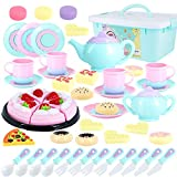 Toys Tea Set 50 Pieces Party Play Food for Kids,Princess Tea Time Toy