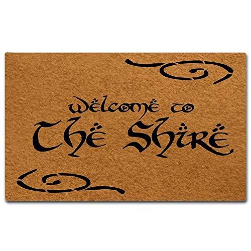 Shinewe Paillasson personnalisé intérieur/extérieur Tapis de salle de bain en tissu non tissé 45,7 x 76,2 cm (convient au Shire)