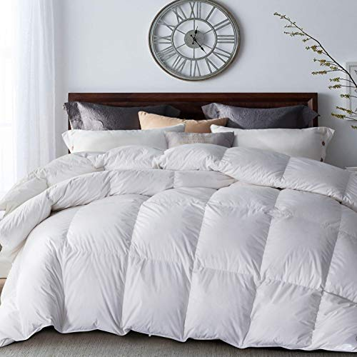 UMI. Essentials Lavender Scented Goose Down Duvet with 100% Cotton Down Shell (10.5 Tog, Goose Down and Feather Filling, King)