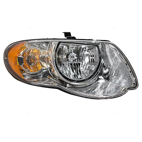 "Halogen Headlight Headlamp Passenger Replacement for 05-07 Chrysler Town & Country Van with 119"" Wheel Base 4857990AD"