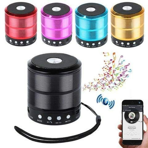 Aarav India, Kitchen, Camp, Mini Pocket Bluetooth Speaker WS 887 with AUX Input Mode, FM Radio, Memory Card Slot, USB Pen Drive Slot, (Multi Color, Assorted)