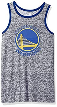 NBA by Outerstuff NBA Youth Boys Golden State Warriors  Baseline  Tank Grey Youth Large 14-16