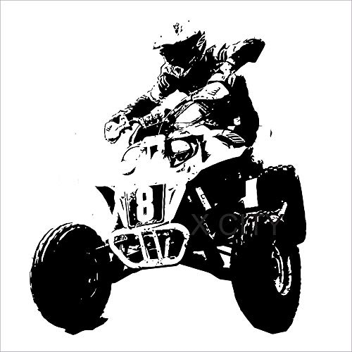 Vinly Art Decal Woorden Quotes Quad Rider Wheeler Cool Extreme Sport Kids Boy Room Sticker Art Decor voor Woonkamer Slaapkamer 12x12 inch