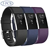 Hossom pour Fitbit Charge 2 Bracelet, Réglables Sport Accessory Replacement Band avec Boucle en Acier Inoxydable Classique pour Fitbit Charge2 Fitness Wristband, Grand (6.7'- 8.1) Petit (5.5'- 6.7')