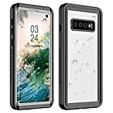 WOOQU Samsung Galaxy S10 Case, S10 Waterproof Case Built in