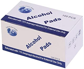 100 قطعة في صندوق وسادة غير منسوجة من وسادة الكحول ديديل احادية الاستخدام من القطن للسفر المنزلي