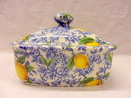 Blue Lemon Blossom Chintz Butterdose preisvergleich bei geschirr-verleih.eu