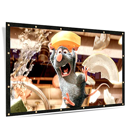 ELEPHAS 100 inches Projector Screen, 16:9 Aspect Ratio Portable Screen for Indoor and Outdoor, School Home Cinema 4K Foldable for Screen