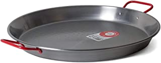 Garcima 15-Inch Carbon Steel Paella Pan, 38cm, Medium, Silver