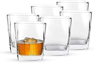 Ocean Plaza Rock (WHISKEY/WHISKY) Glass, Pack of 6, Clear, 295 ml, B1101006