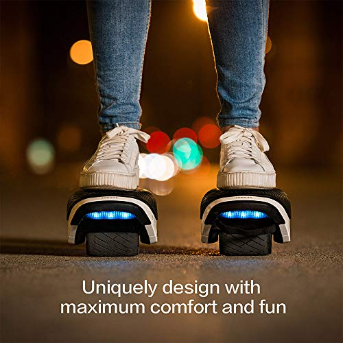 Segway Ninebot Drift W1, Electric Roller Skates Hovershoes, Two Wheels self Balancing Scooter with RGB LED