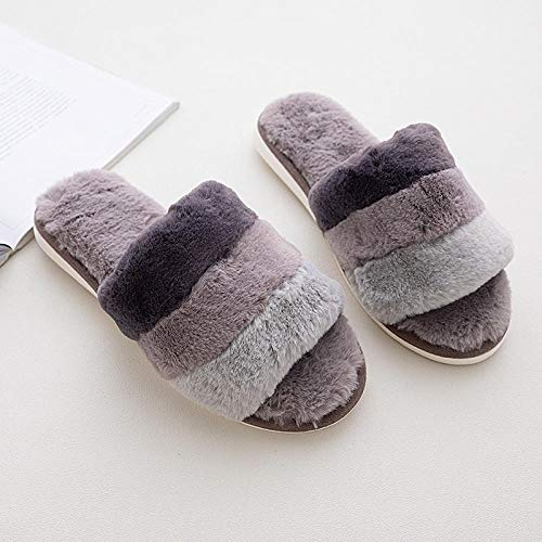 B/H Zapatillas De Estar En Casa con Memory Foam,Zapatillas Sencillas, Suela Gruesa Antideslizante, Home-Grey_41-42