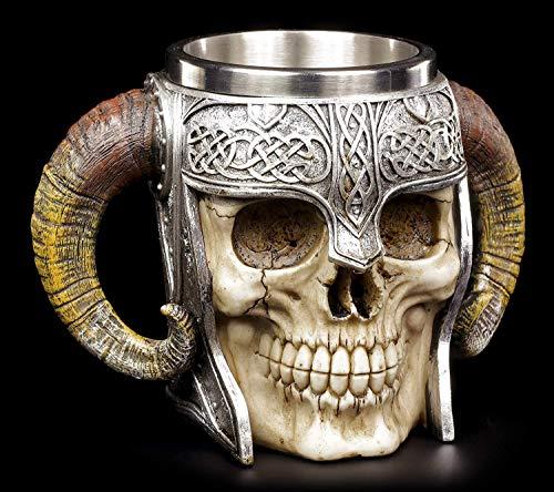 Nemesis Now Viking Skull Tankard - Taza (16 cm), color marrón