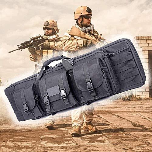 Bolsa de escopeta que acampa, Bolso de pistola táctica de la caja del rifle, caja de armas de Airsoft con servicio liviano y pesado para almacenar rifles individuales (Tamaño: 46 pulgadas) , para el c