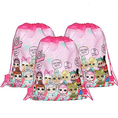 12 Pcs LOL Drawstring Bags,LOL Party Favors Bags Gifts Bags for Birthday Party Supplies