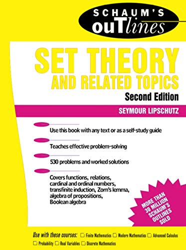 Compare Textbook Prices for Schaum's Outline of Set Theory and Related Topics 2 Edition ISBN 9780070381599 by Lipschutz, Seymour
