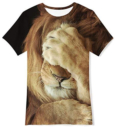 UNIFACO Camiseta para niños, divertidas, 3D, camiseta de cuello redondo, personalizada, de manga corta, para fiesta de verano