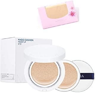 Missha M Magic Cushion Moisture Special Edition #21(+refill 1pcs+air in Puff) + SoltreeBundle Natural Hemp Paper 50pcs