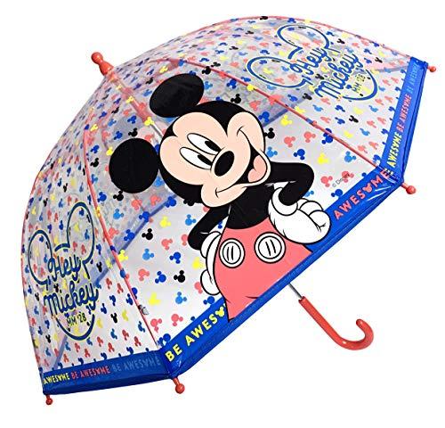 Mickey Mouse Kinder Stock-Schirm Regenschirm Kuppelschirm