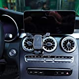 Soporte para teléfono de coche para Mercedes W205 Clase C C200 C300 C43 C63 GLC X253 GLC350 GLC260 GLC300 accesorios interiores para teléfono móvil (negro)