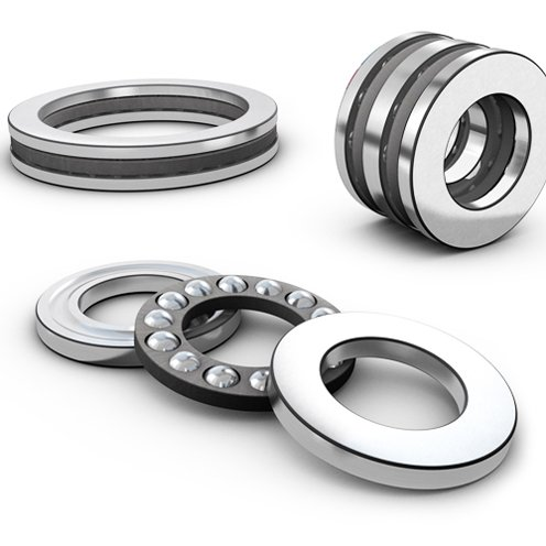 SKF 52212 Ball Thrust Bearing - Double-Direction, 50 mm Bore, 95 mm OD, 46 mm Width, Separable