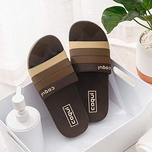 WXDP Pantuflas Calientes,Sandalias ergonómicas de Dedo del pie con Chanclas, par de Zapatillas de baño en casa, Zapatillas de Fondo Suave-Chocolate_40, Mule de baño rápido de Drenaje ggsm