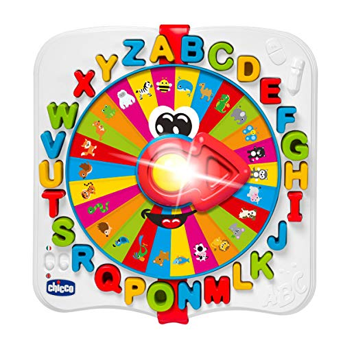 Chicco Baby Prof - Juguete bilingüe español inglés del abecedario con luces y sonidos, Multicolor