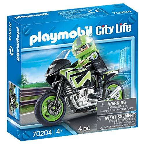 PLAYMOBIL PLAYMOBIL-70204 City Moto+Motorista