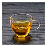 YLHXYPP Retro Taza de té Taza de Cristal pequeño de Kung Fu Juego de té con la Placa con el Bol de Vidrio de la manija de la Copa Tazas de té Cerámica (Color