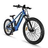 Accolmile Bicicleta de Montaña Eléctrica de 27,5 Pulgadas, Motor Central Eléctrico BAFANG 48V 750W, con Batería de Litio Actualizado de 17,5 Ah, Shimano 8