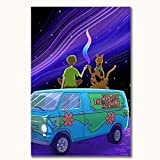 Scooby Doo Mystery Mayhem TV Show Poster Scooby Doo Modern Posters 24' x 36' Bedroom Living Room Home Decor, Unframed